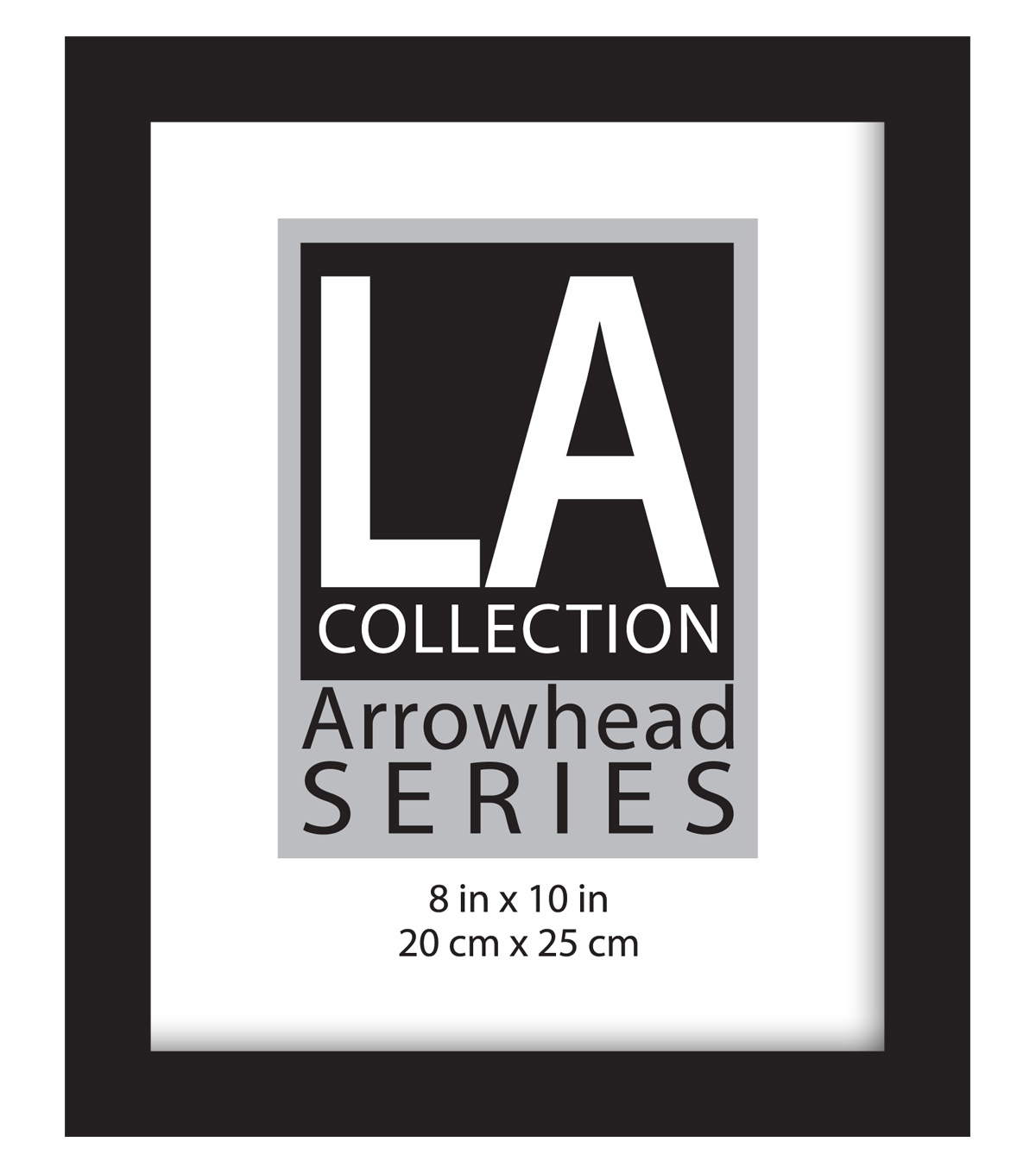 LA Collection Flat Top Frame 8X10-Black