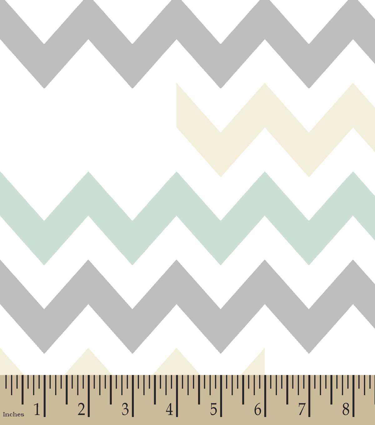 Pastel Chevron Print Fabric