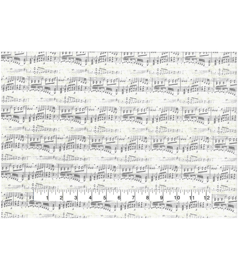 Novelty Cotton Fabric-Antique Sheet Music