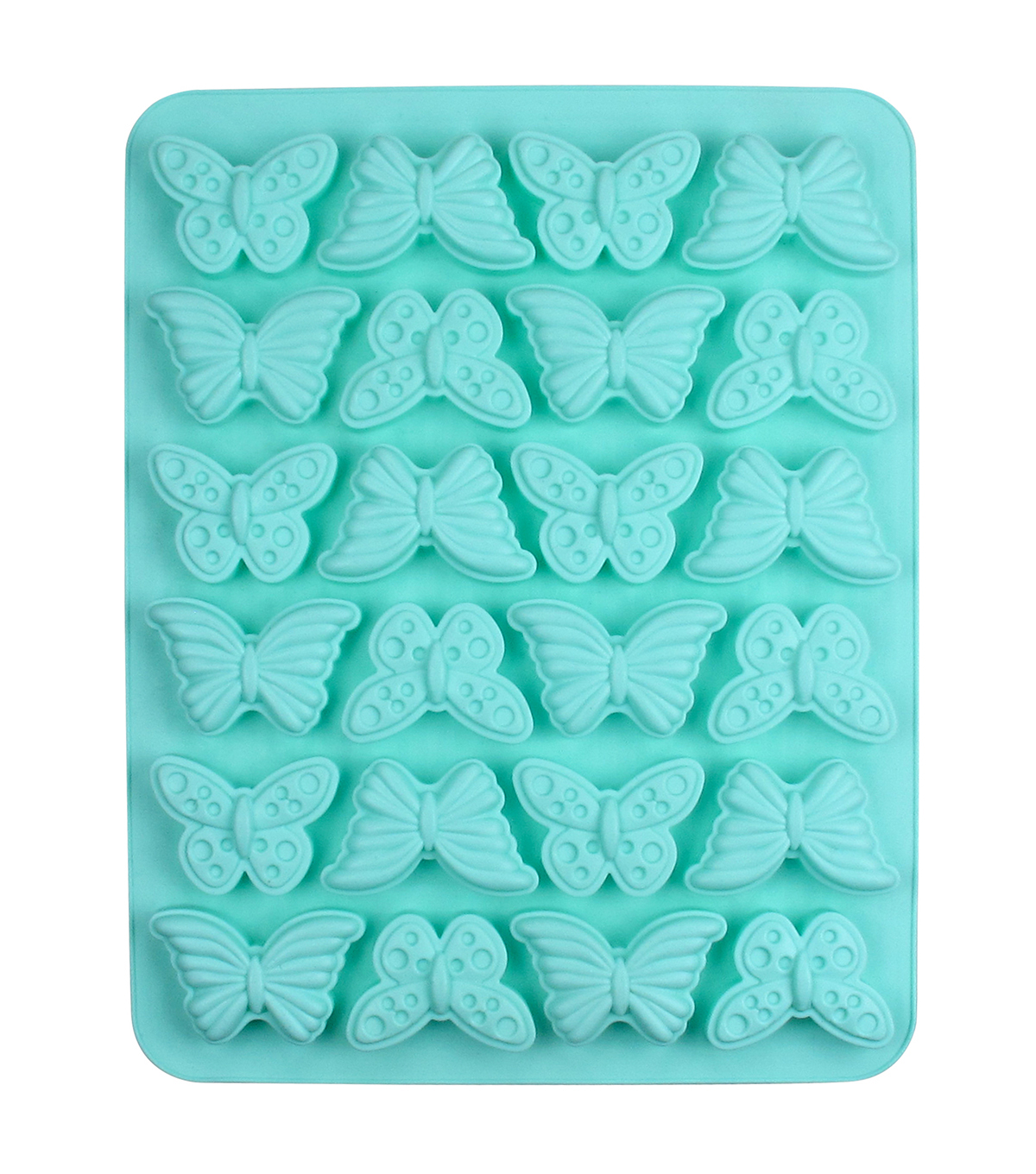 Easter 13.5\u0027\u0027x10.5\u0027\u0027 24-cavity Silicone Mini Treat Mold-Butterfly