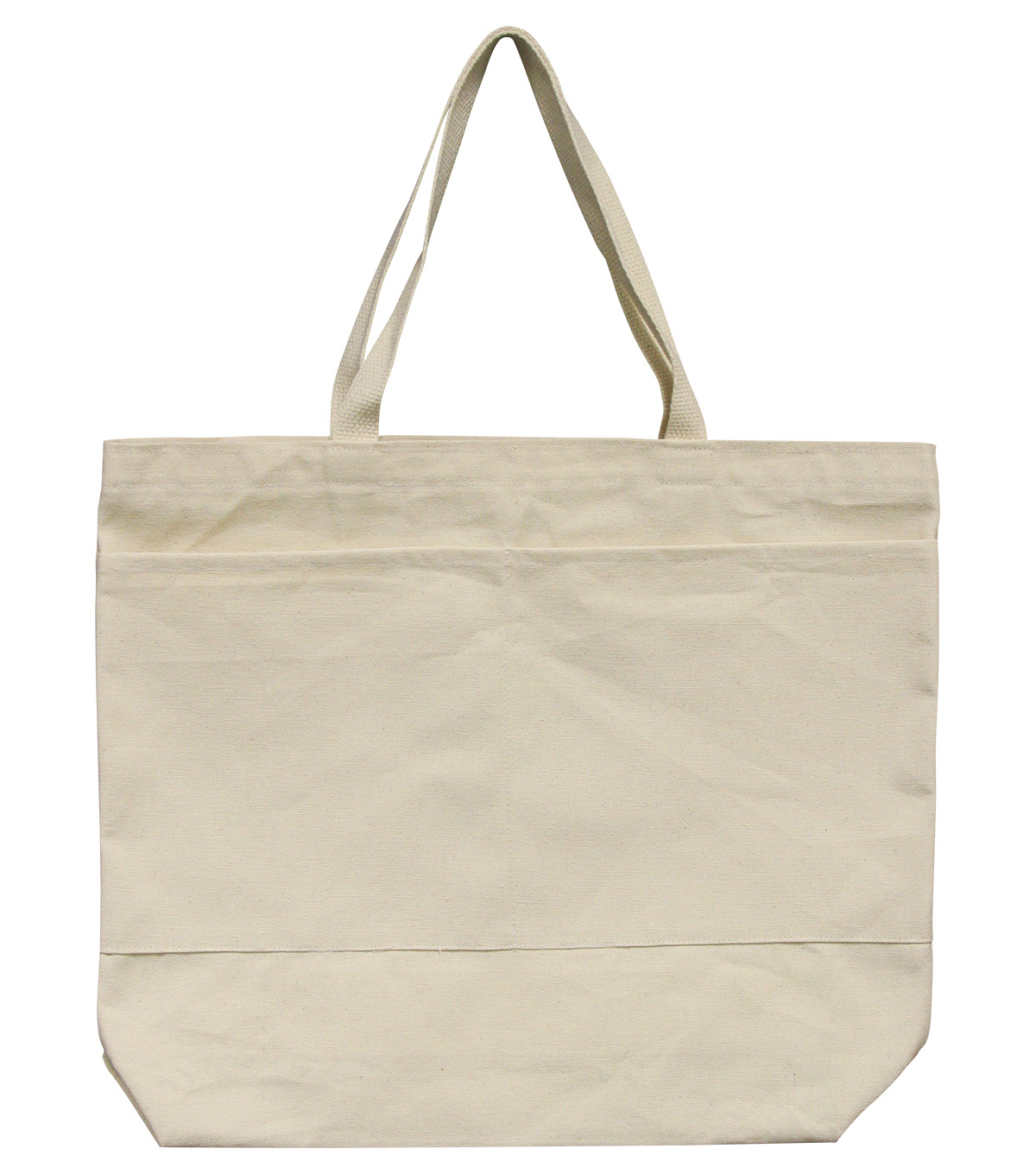 Large Tote with Pocket-Natural