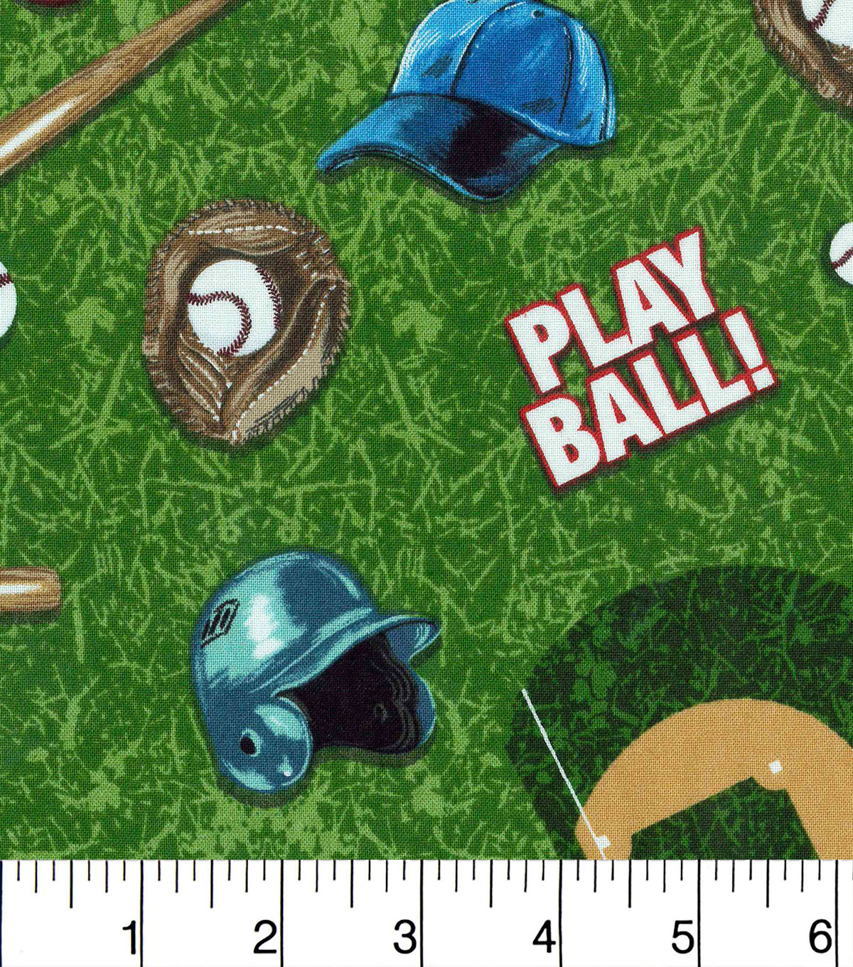 Novelty Cotton Fabric -Baseball