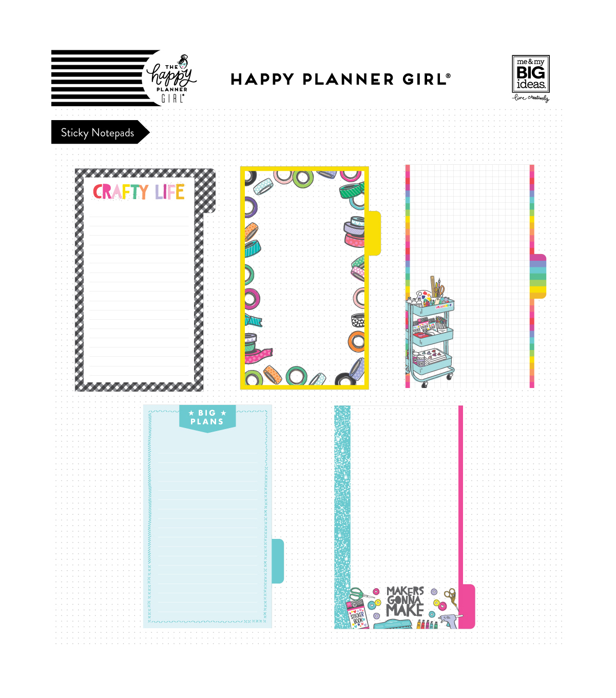 The Happy Planner Girl Sticky Notes-Miss Maker