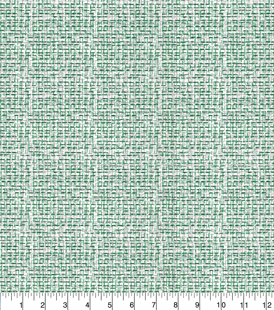 Christmas Cotton Fabric-Green & Silver Glitter Crosshatch