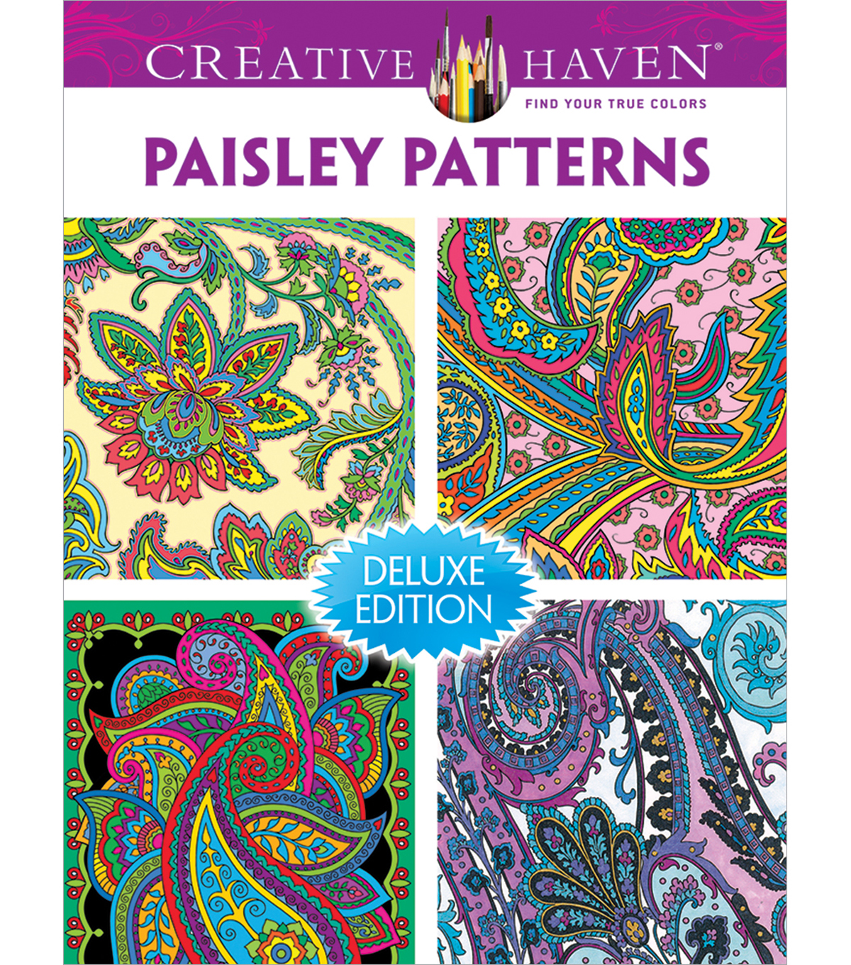 Adult Coloring Book Creative Haven Paisley Patterns