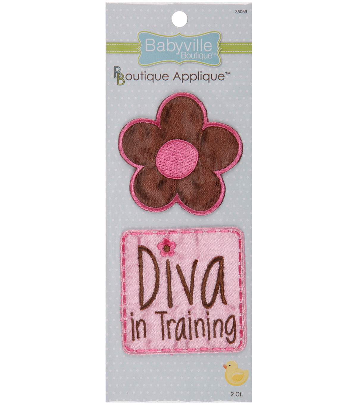 Babyville Boutique Appliques Fun Flower And Diva 2pcs