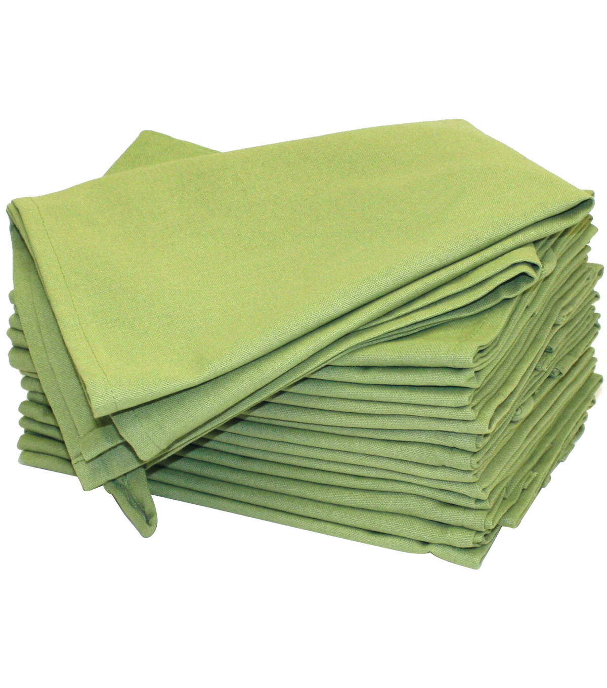 Hemmed Color Dyed Kitchen Towels 18\u0022X28\u0022 2/Pkg-Avocado Green