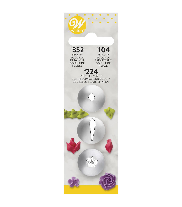 Wilton Pet 104 feuille 352 Fleur 224 Set