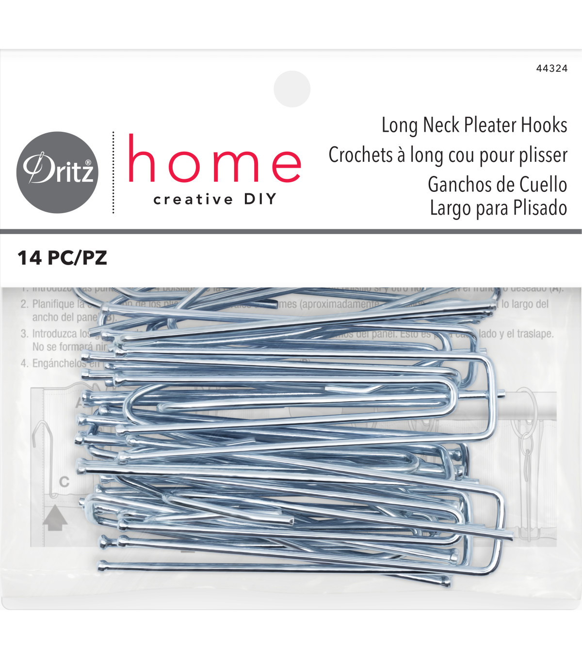 Dritz Home 3\u0022 Pleater Ceiling Hooks 10pcs