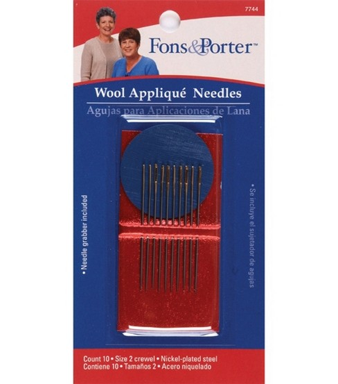 Fons & Porter Hand Wool Applique Needle 10pcs Size 2