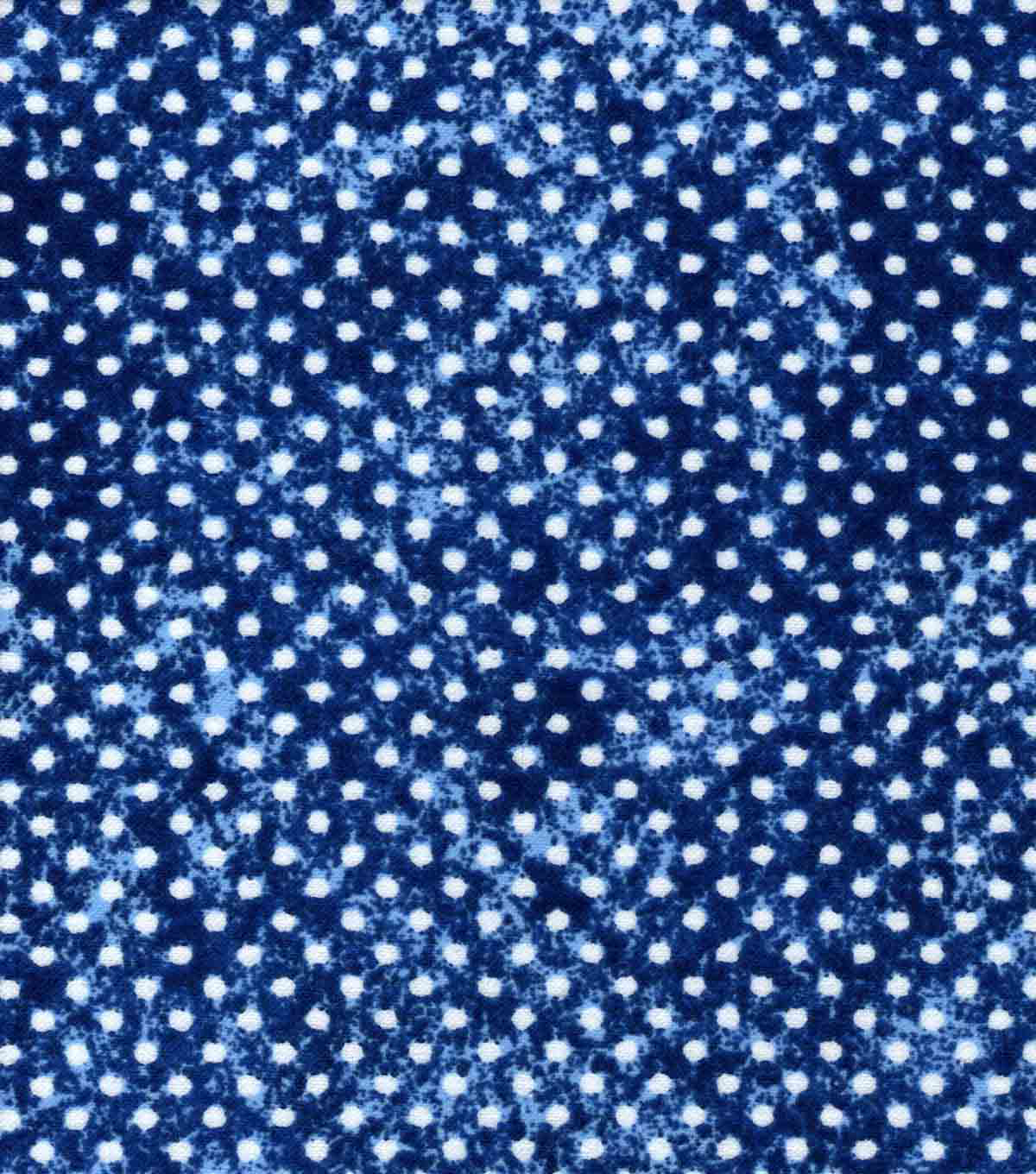 Quilter\u0027s Flannel Fabric -Dots Navy