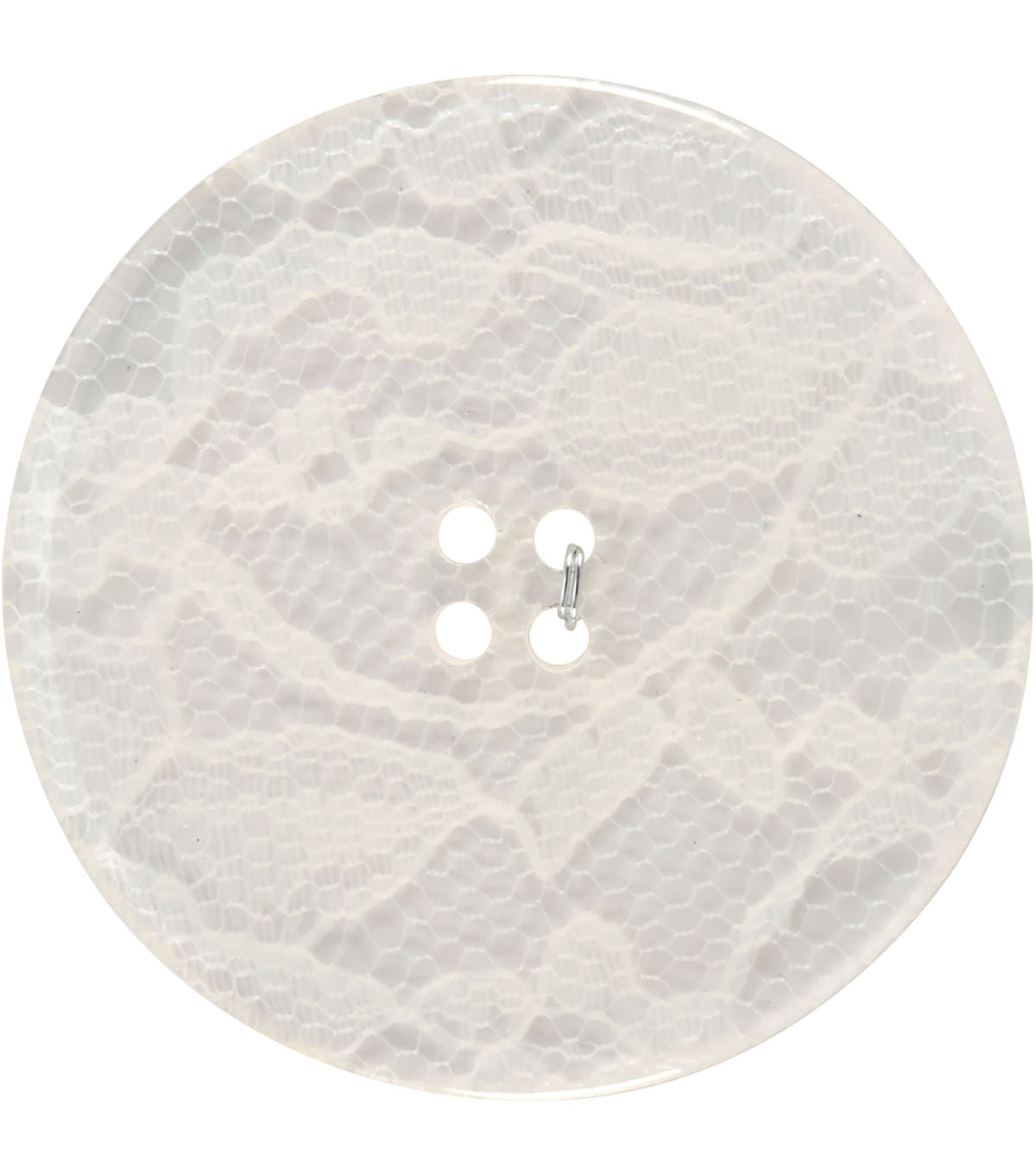 Crafting with Buttons Black & White 2\u0027\u0027 Lace Button-White