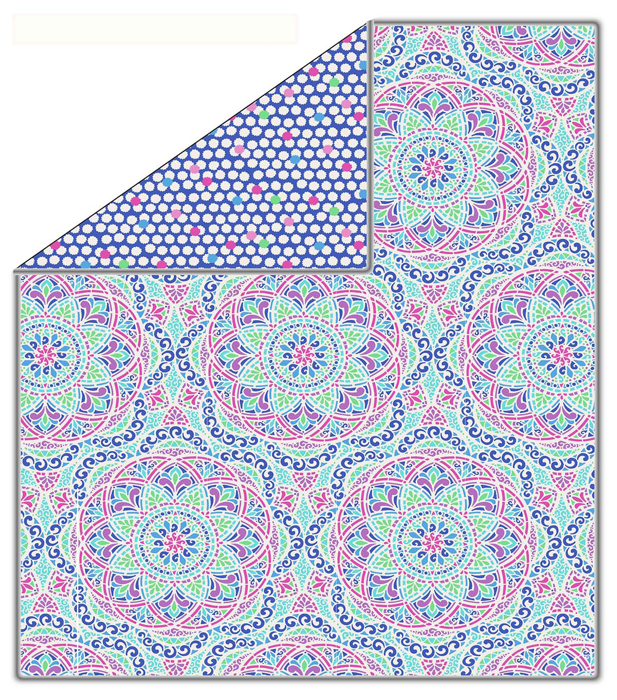 No-Sew Throw Fleece Fabric 72\u0022-Colorful Geo