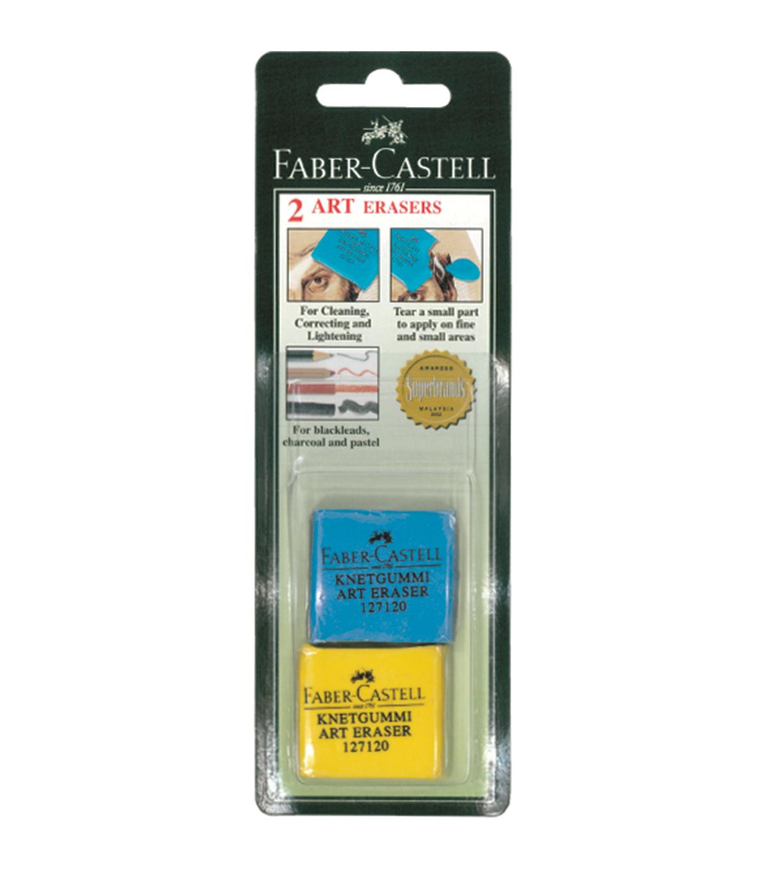 4 Total Erasers Large Kneaded Eraser 2 Erasers per pack Faber Castell 2-Pack