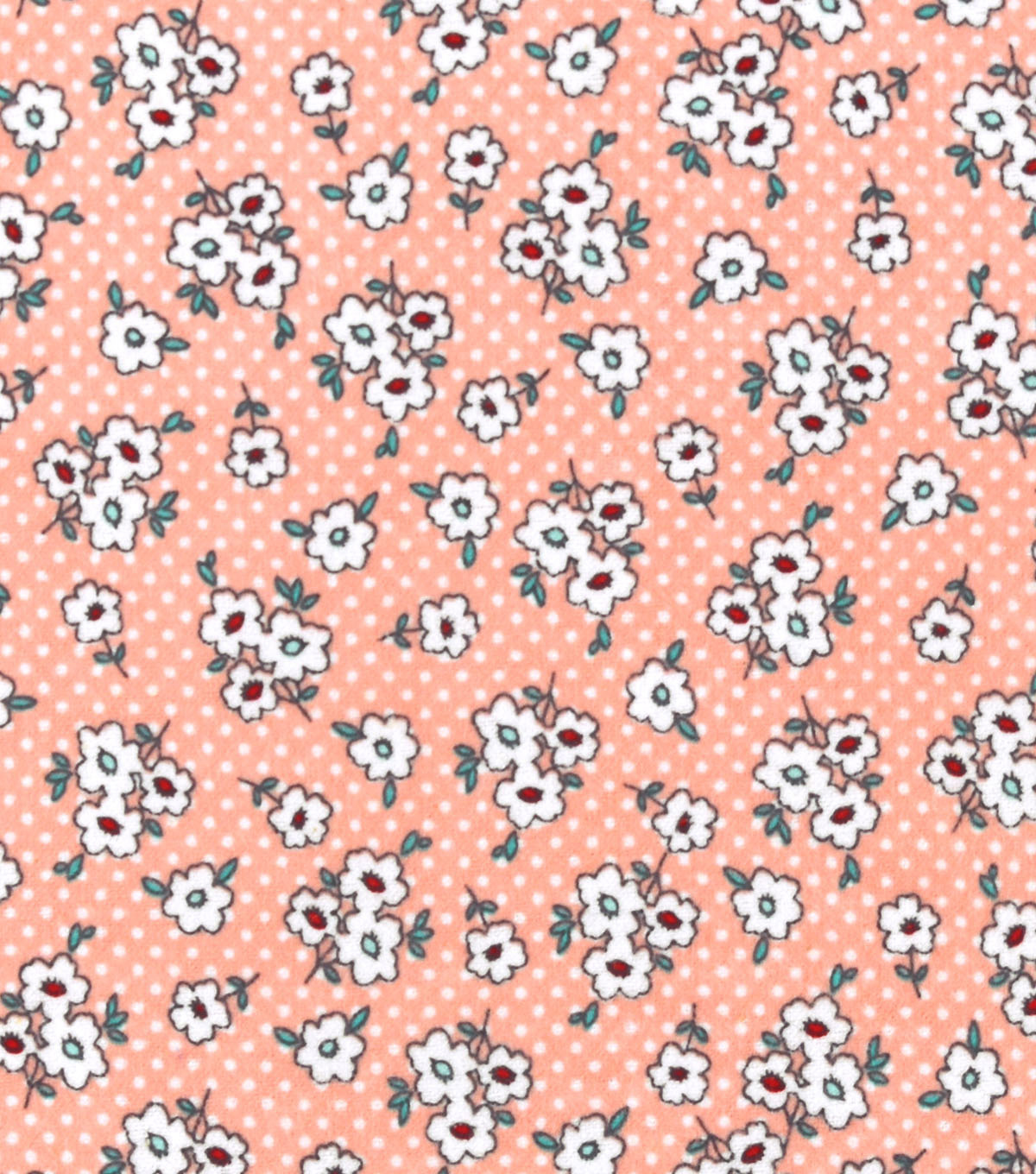 Snuggle Flannel Fabric -Pink Ditsy Floral
