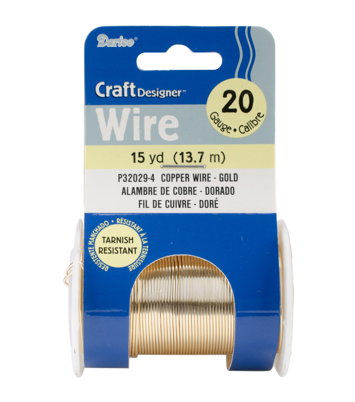 Beading wire 20 gauge 15ydpkg gold colored copper wire joann beading wire 20 gauge 15ydpkg gold colored copper wire greentooth Choice Image
