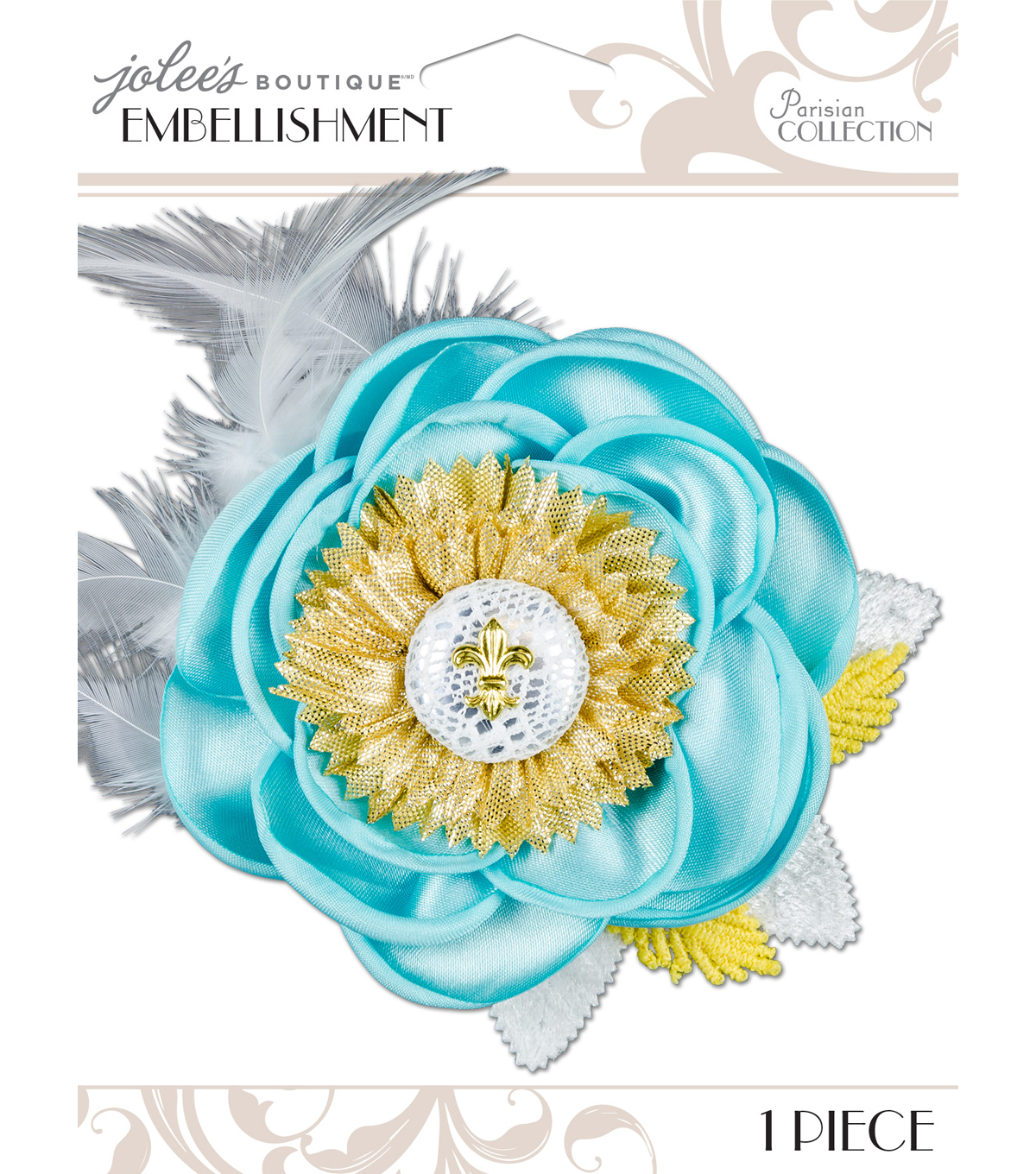 Jolee\u0027s Boutique Parisian Soft Blue Embellished Flower