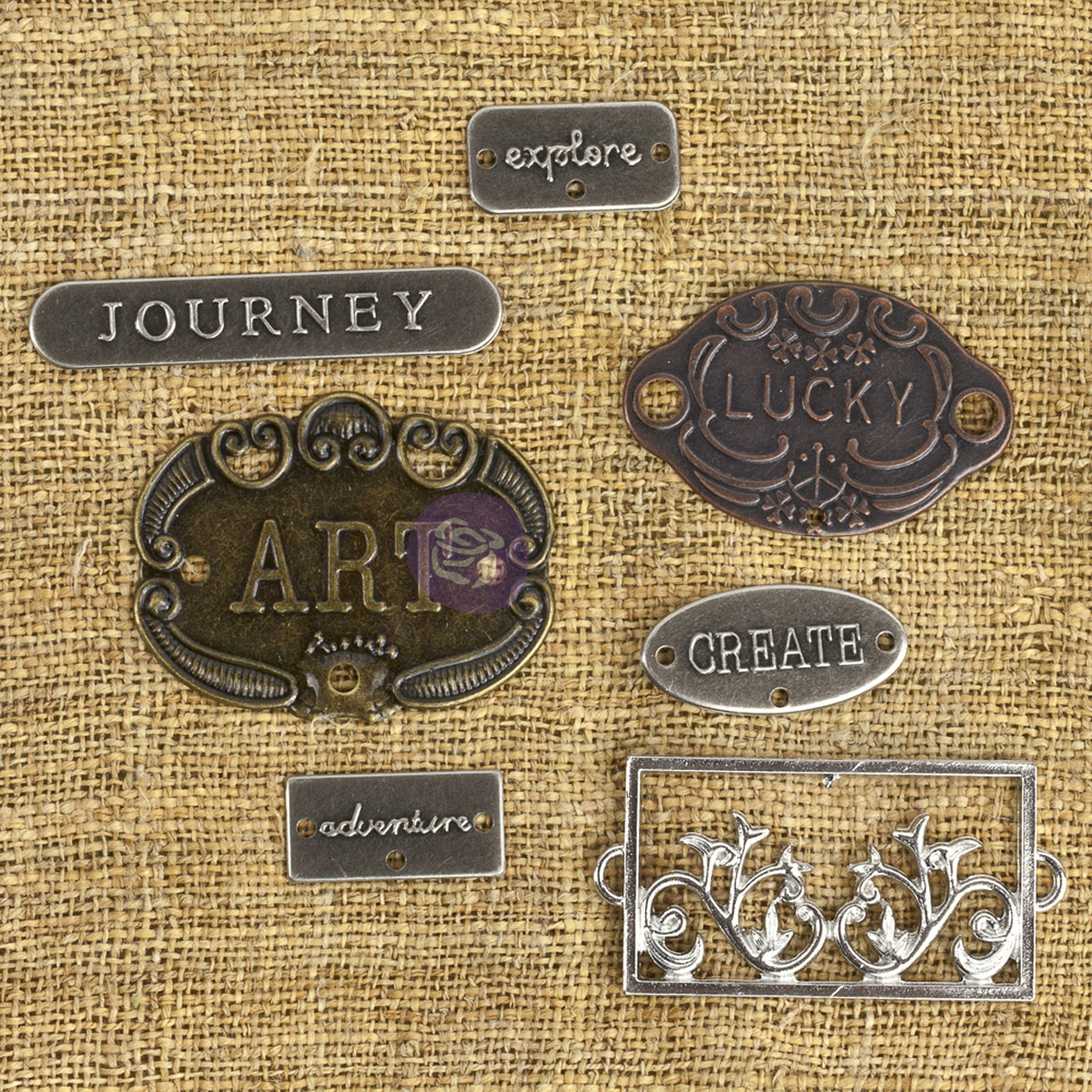 Prima Marketing Mechanicals Metal Embellishments Plate & Label