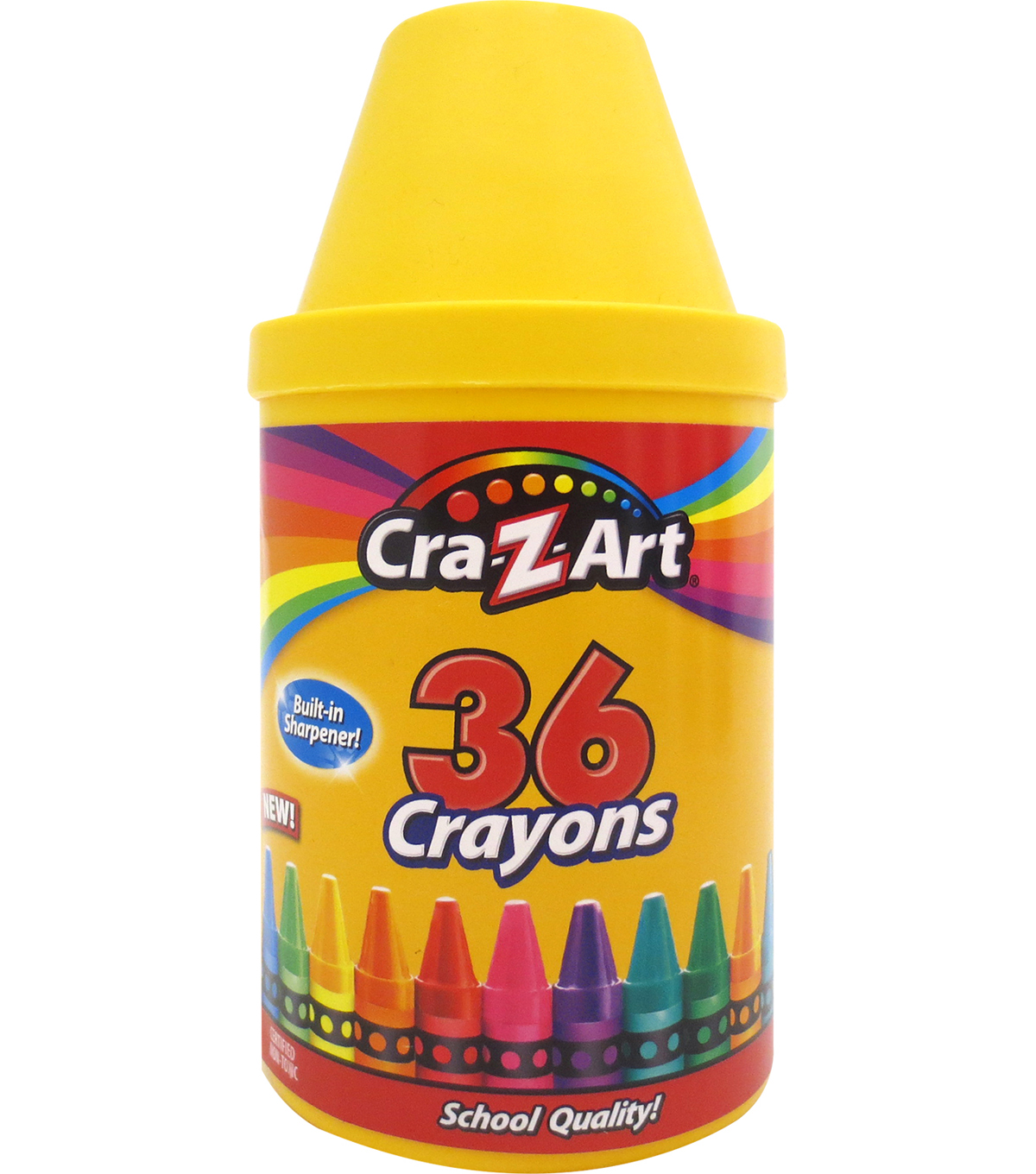 Cra-Z-Art 36 pk Crayons with Built-in Sharpener
