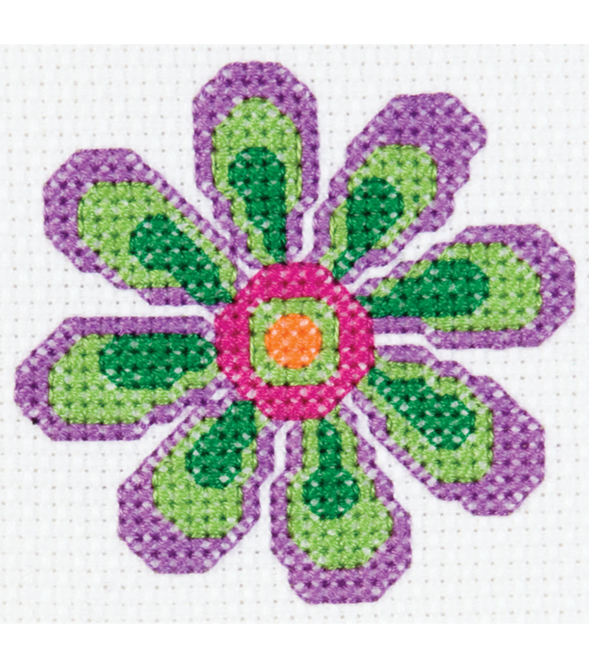 Bucilla My 1st Mini Counted Cross Stitch Kit Flower