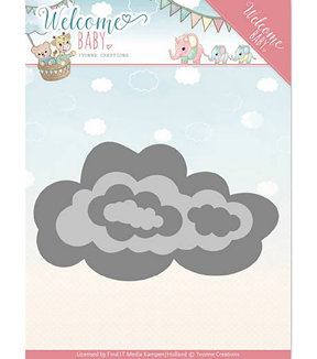Find It Trading Yvonne Creations Welcome Baby Die-Nesting Clouds