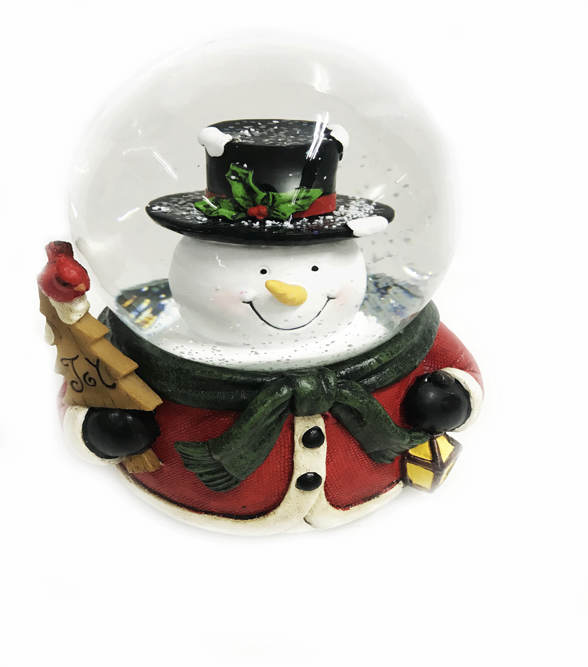 Maker\u0027s Holiday Christmas Snowman with Top Hat Water Globe