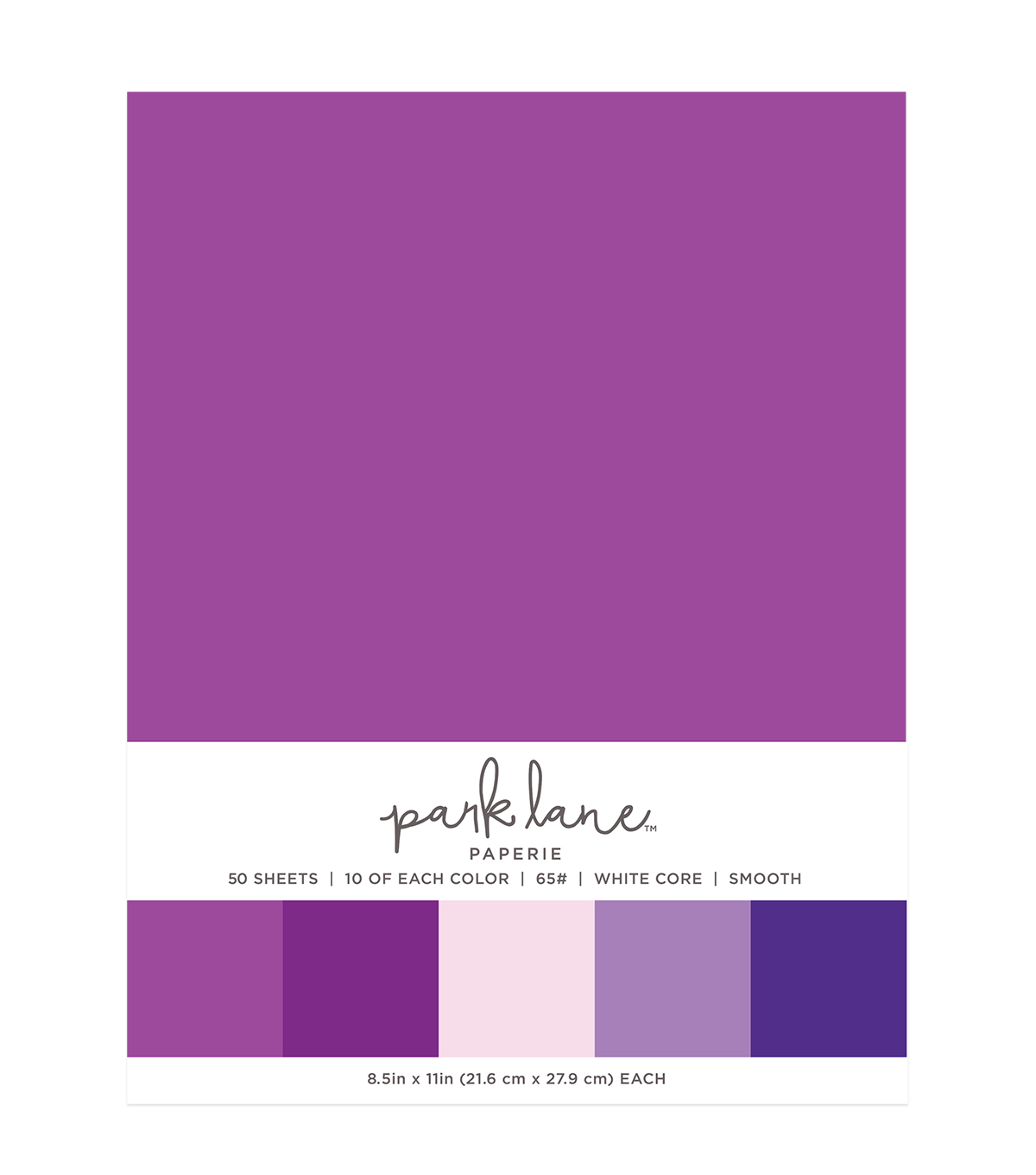 Park Lane 50 pk 8.5\u0027\u0027x11\u0027\u0027 Value Papers-Purple