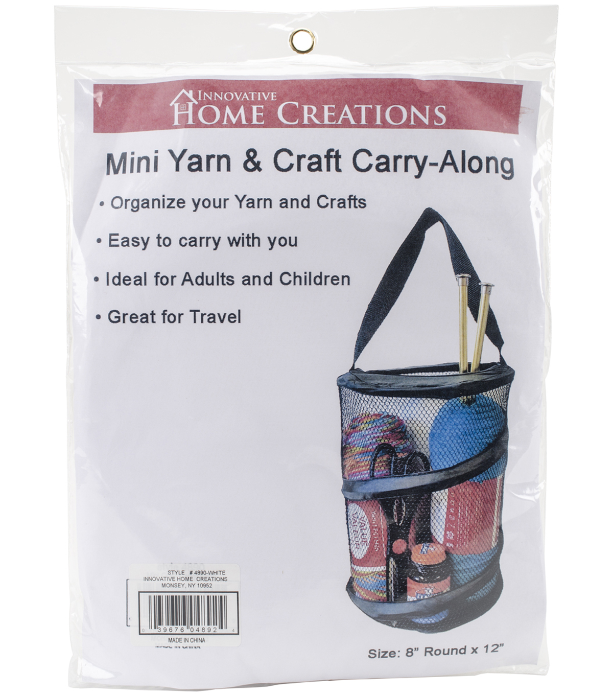 Innovative Home Creations Yarn & Craft Carry-Along 8\u0027\u0027x12\u0027\u0027