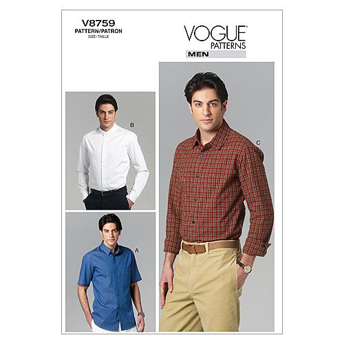 Vogue Patterns Mens Top-V8759