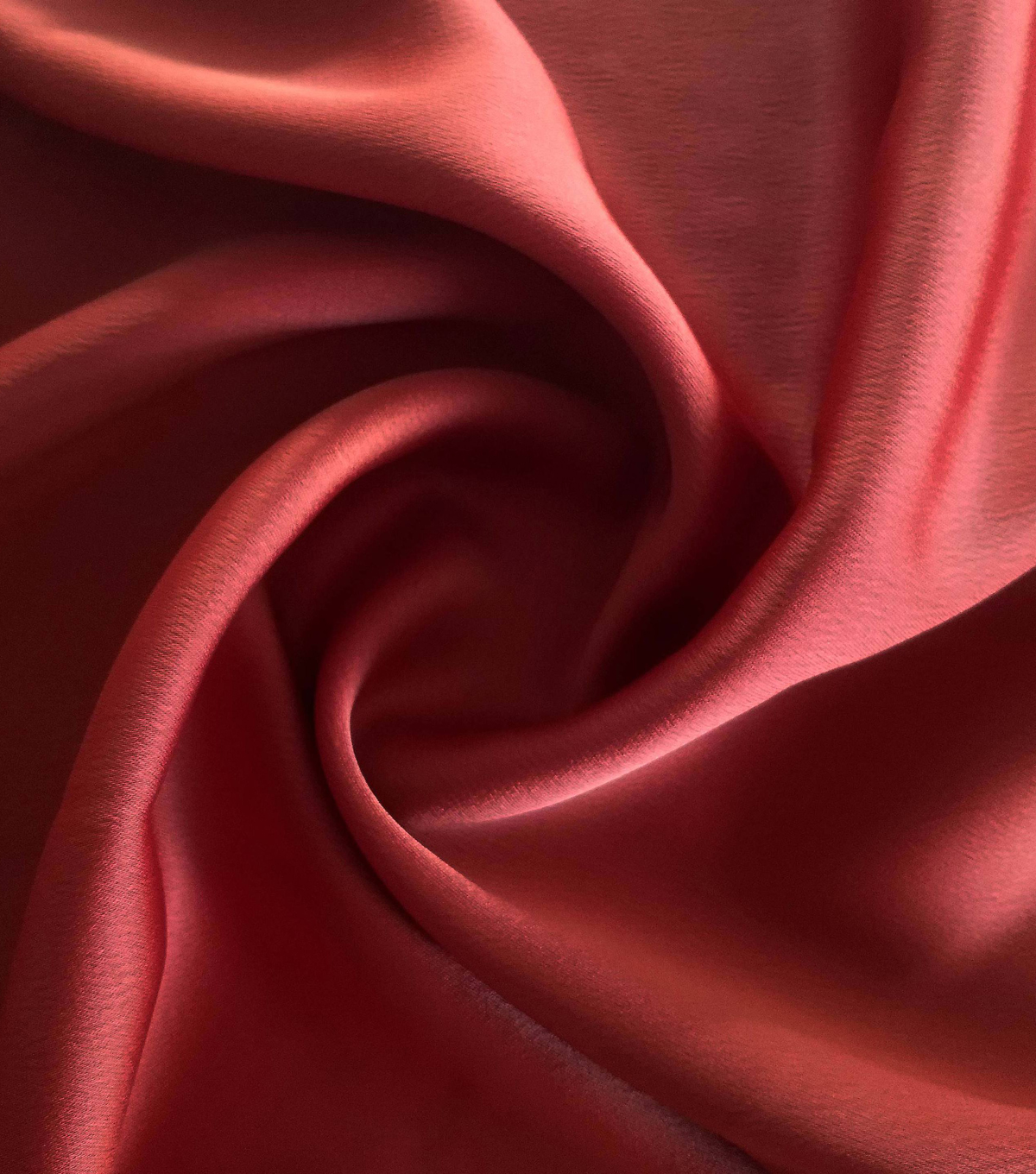 Silky Stretch Satin Fabric-Textured Solids, Ketchup