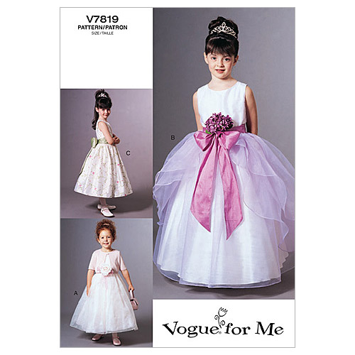 Vogue Patterns Child Special Occasion-V7819
