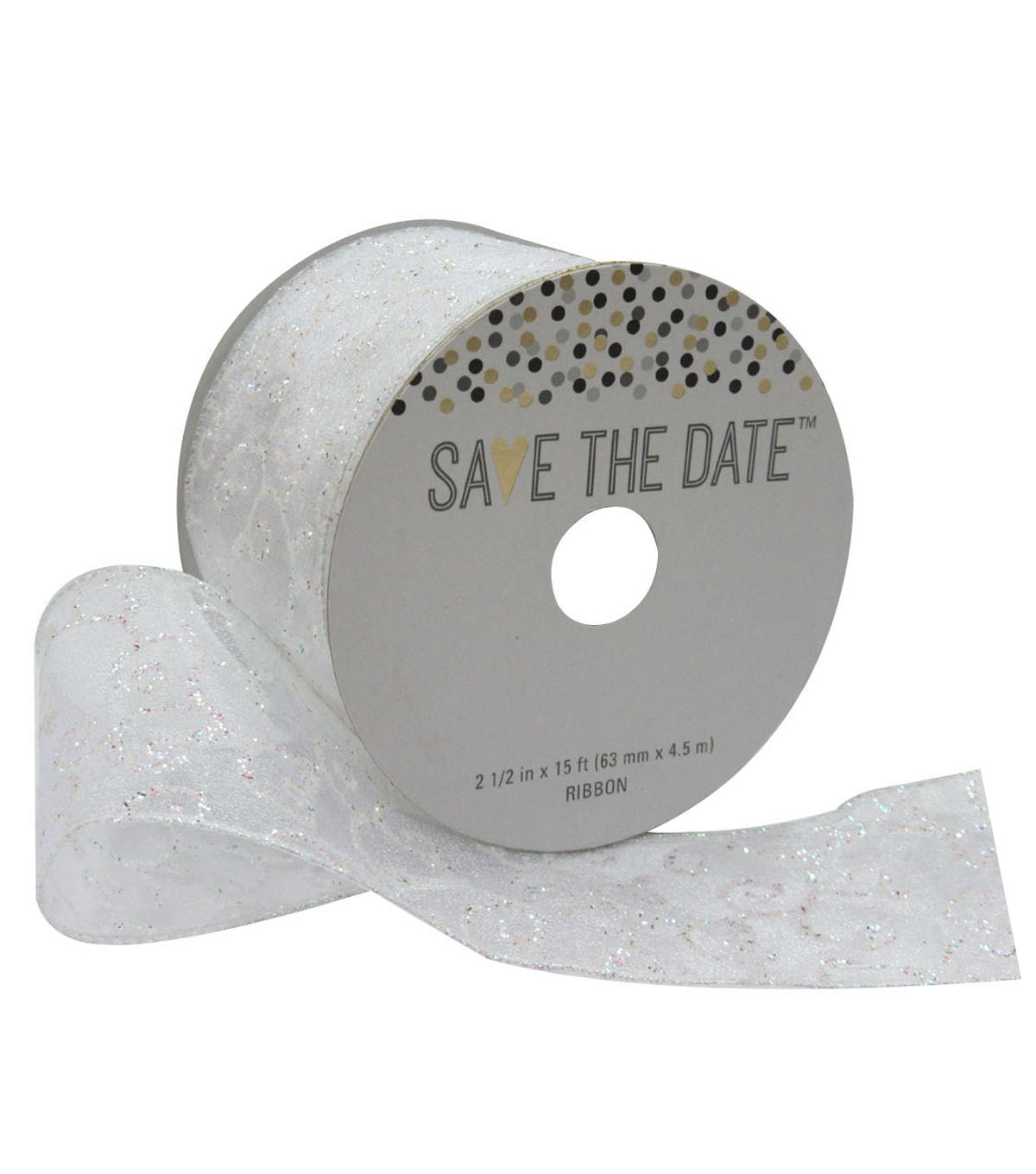 Save the Date 2.5\u0027\u0027 X 15\u0027 Ribbon-Iridescent Swirl
