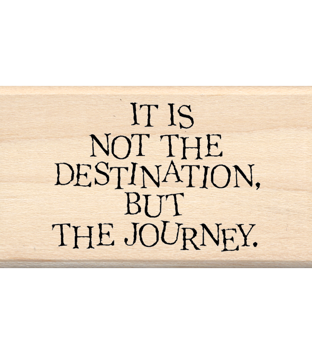 Inkadinkado Mounted Rubber Stamp-Destination