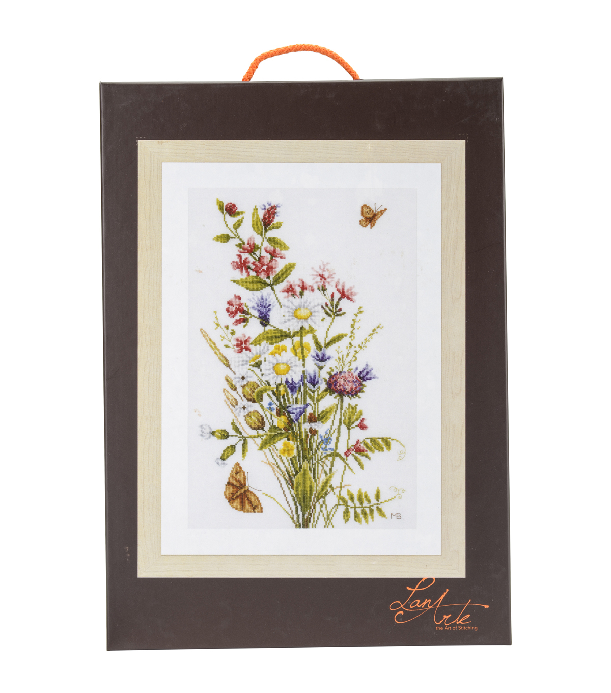 LanArte Cotton Counted Cross Stitch Kit-Field Flowers