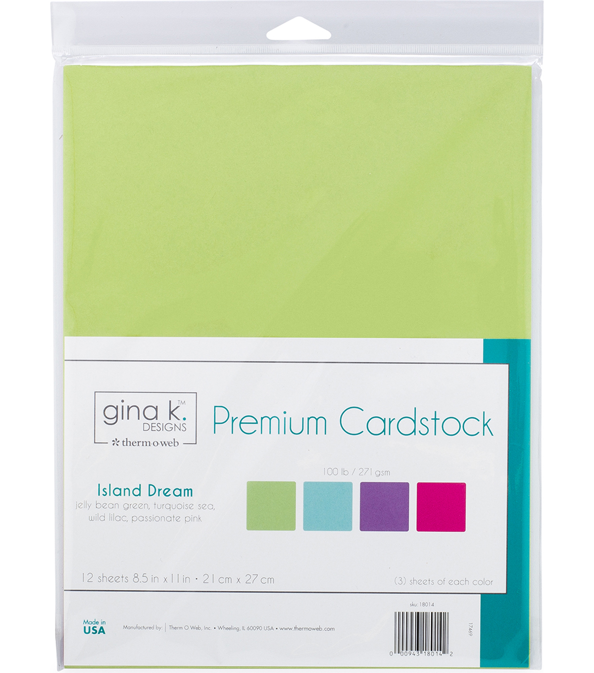 Gina K Designs Cardstock 8.5\u0022X11\u0022-Island Dream