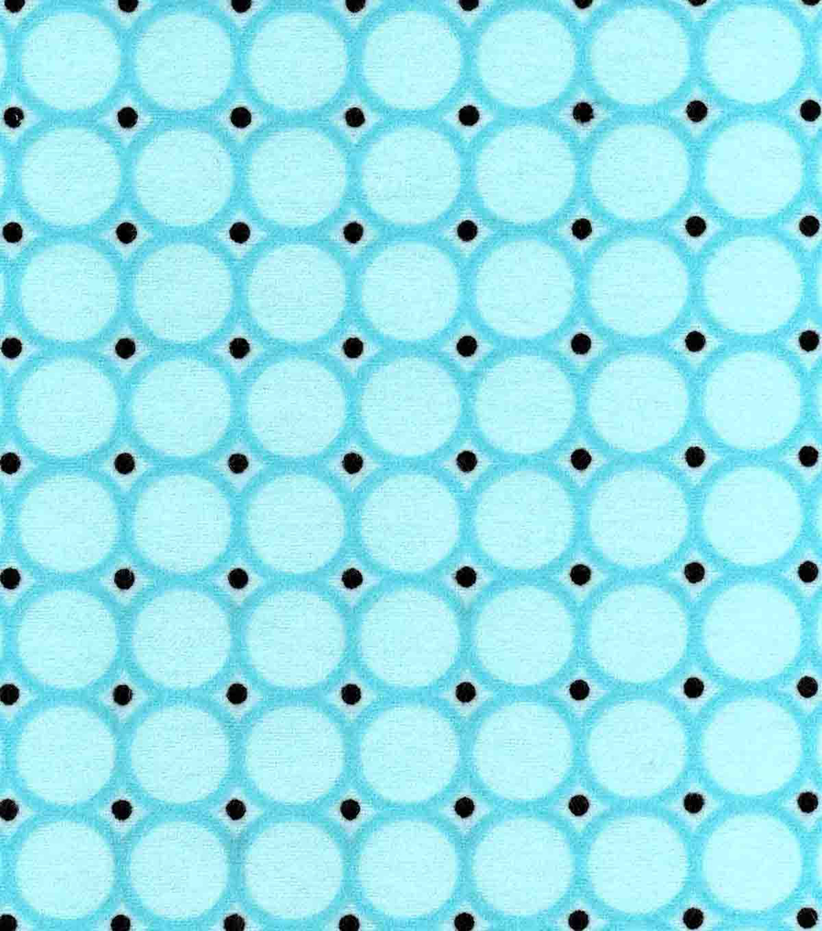 Snuggle Flannel Fabric -Blue Radiance Circles