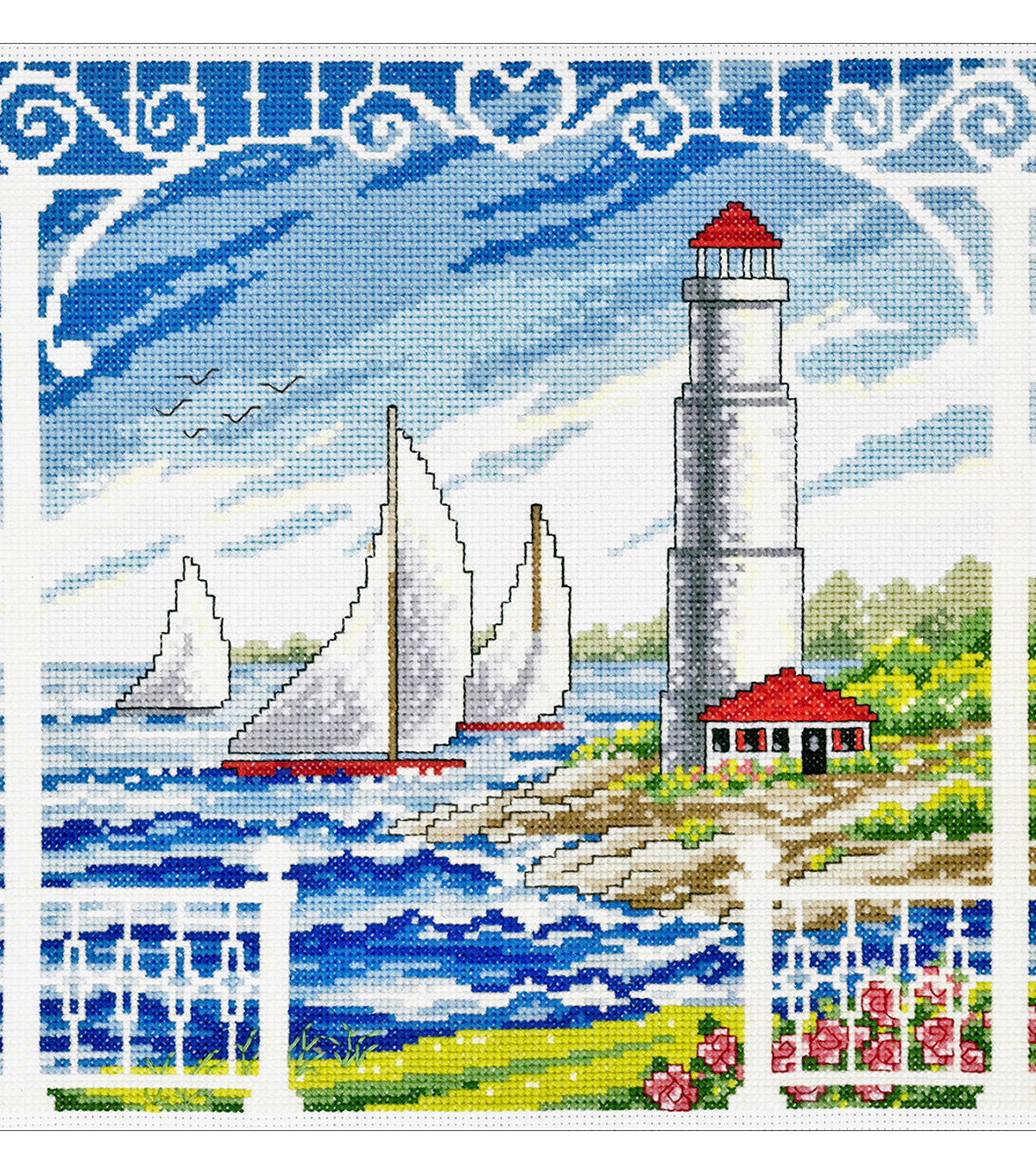 Imaginating 10.5\u0027\u0027x10\u0027\u0027 Counted Cross Stitch Kit-Porch Scene