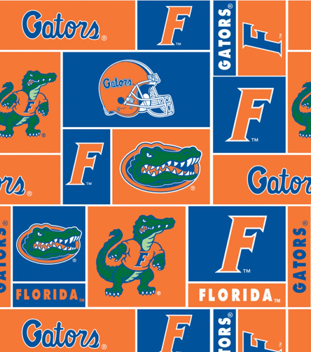 University of Florida Gators Fleece Fabric 58\u0027\u0027-Block