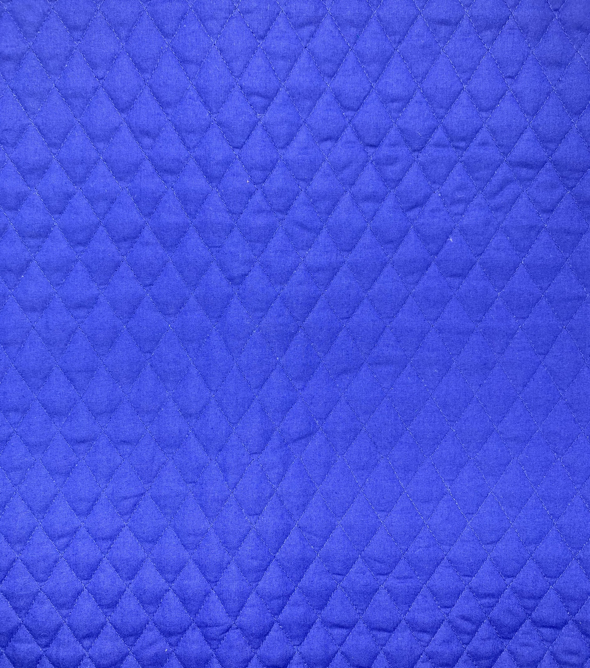 Double Faced Pre-Quilted Cotton Fabric -Diamond Solids, Dark Royal Blue