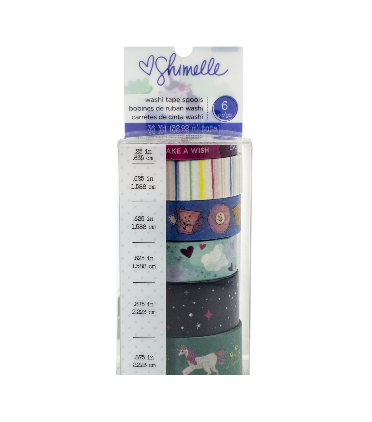 American Crafts Shimelle Head in the Clouds 6 pk Washi Tape Spools