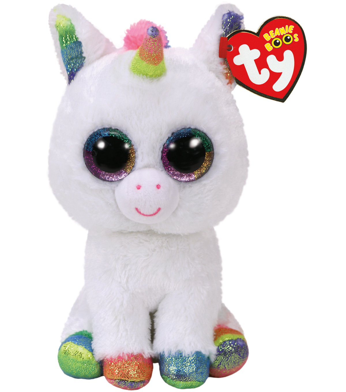 TY Beanie Boo White Unicorn-Pixie