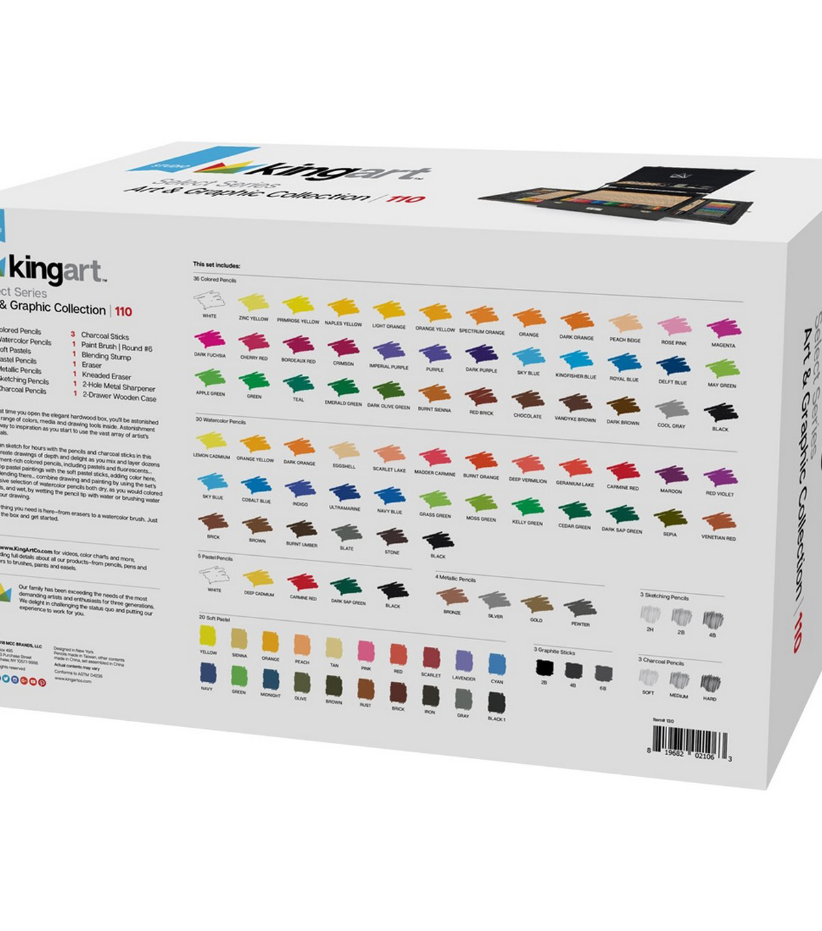 KINGART Select Series Art & Graphic Collection 110/Pkg