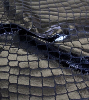 The Witching Hour Halloween Fabric -Crocodile Foil Black