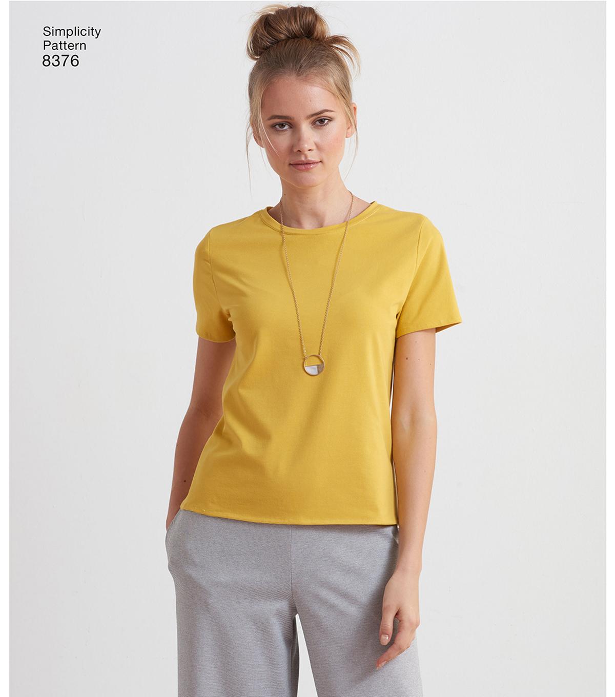 da92d27b91 Simplicity Pattern 8376 Misses  Knit Top-Size A (XXS-XS-S-M-L-XL-XXL ...