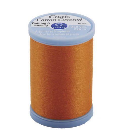 Coats & Clark Cotton Covered Quilting & Piecing Thread 250 Yards , 7630 Tangerine