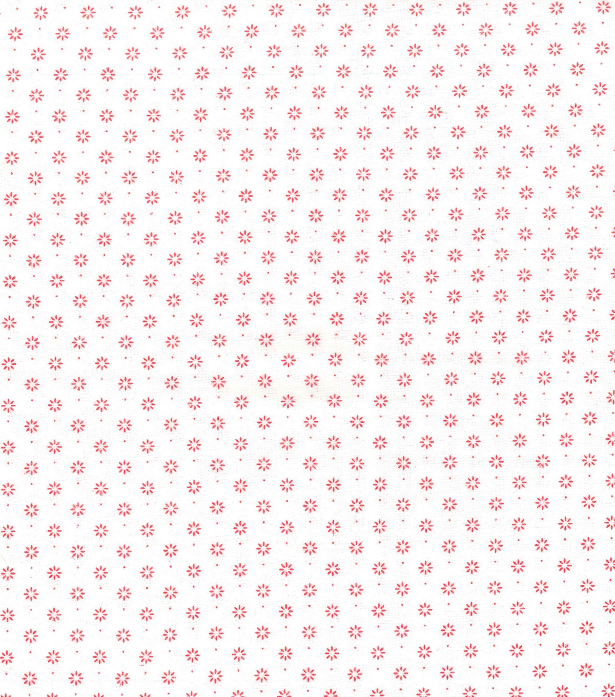 Wide Flannel Fabric -Red Flower And Dot