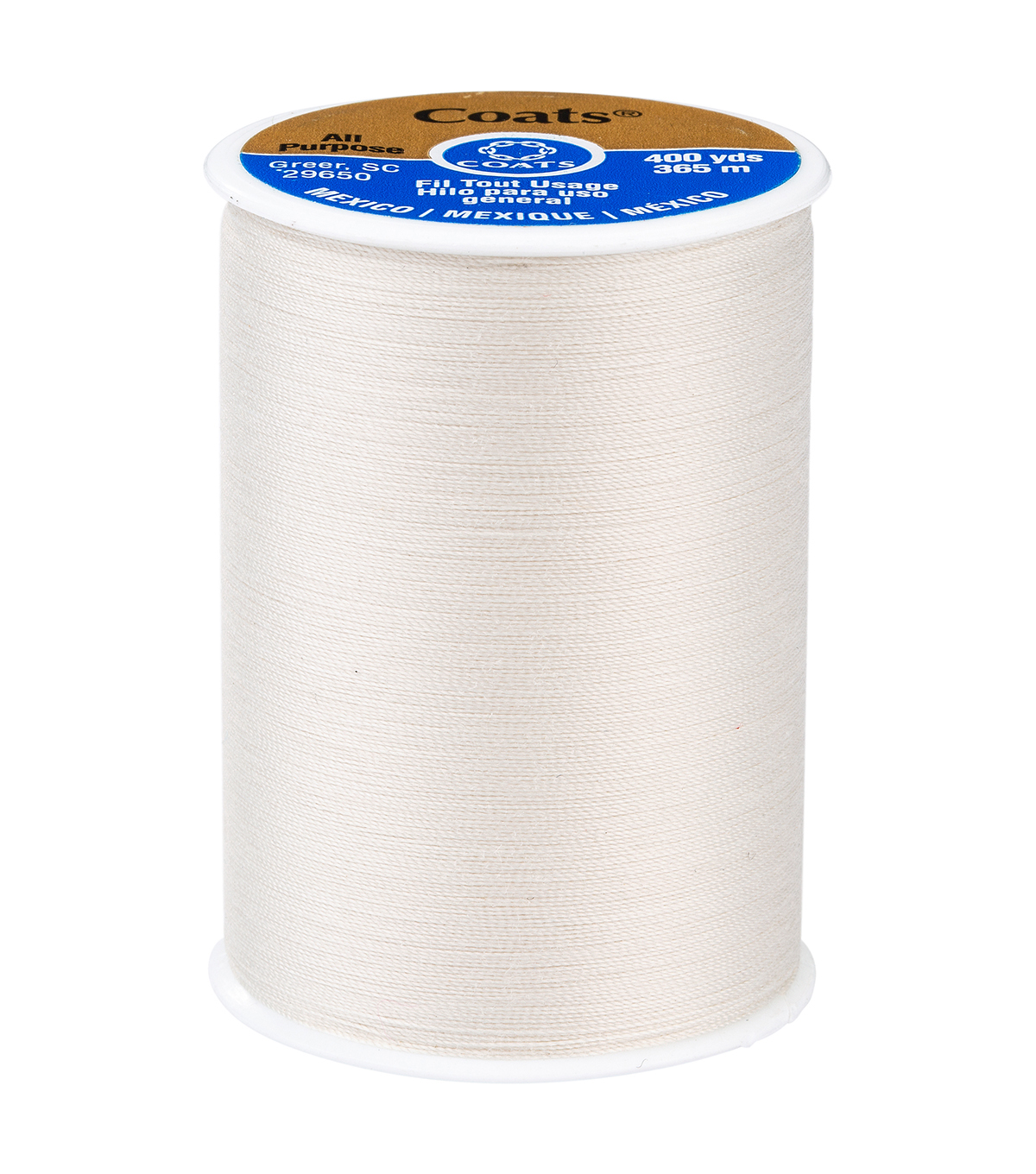 Coats & Clark Dual Duty Thread-400yds, Natural
