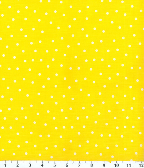 Keepsake Calico Cotton Fabric 44\u0027\u0027-Polka Dots on Yellow