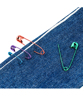 Singer Metallic-Coated Color Safety Pins Assorted Sizes-35ct