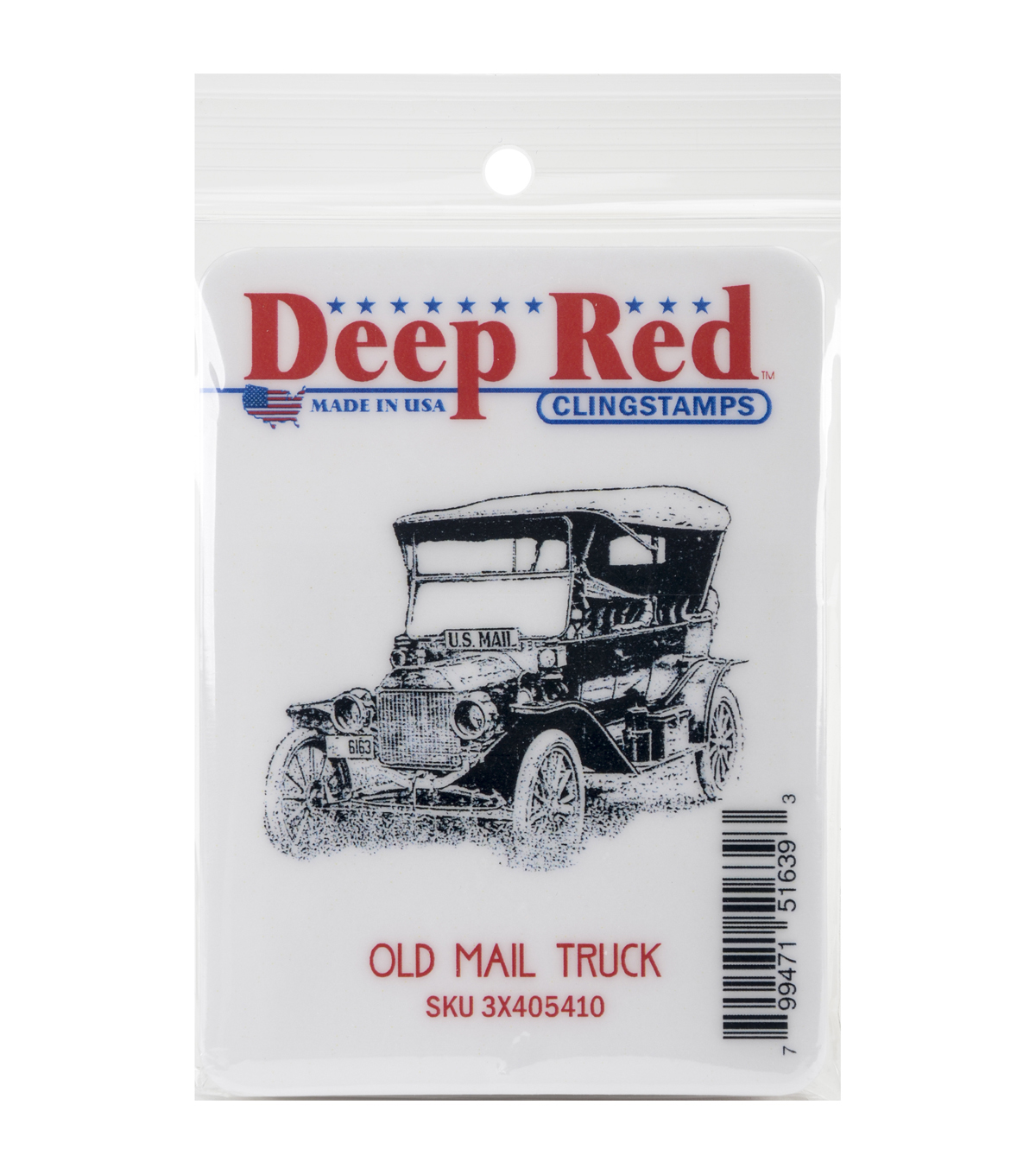 Deep Red Stamps Cling Stamp-Old Mail Truck